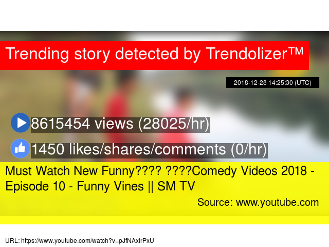 Image of: Videos comedy Videos 2018 Episode 10 Funny Vines Sm Tv Noxinfluencer Must Watch New Funny comedy Videos 2018 Episode 10 Funny