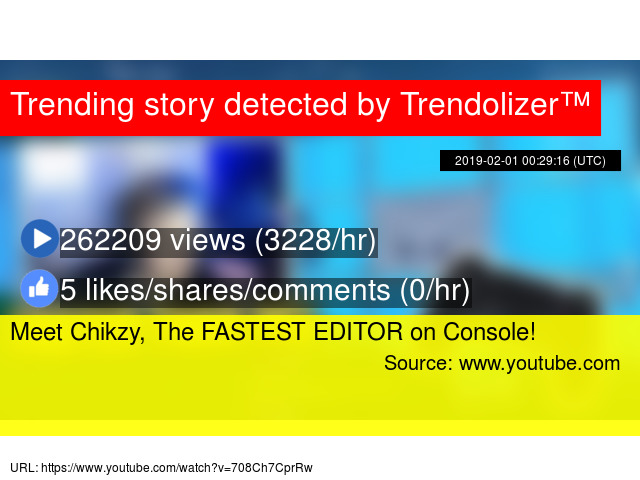 Meet Chikzy, The FASTEST EDITOR on Console!