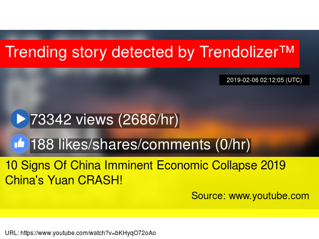 10 Signs Of China Imminent Economic Collapse 2019 China's