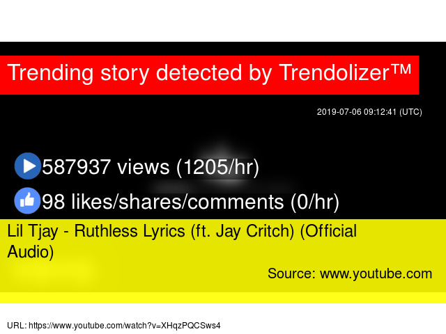 Lil Tjay - Ruthless Lyrics (ft  Jay Critch) (Official Audio)