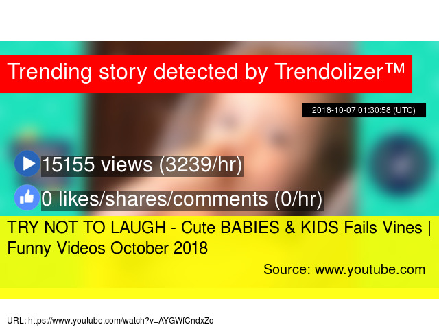 Image of: Youtube Rewind Try Not To Laugh Cute Babies Kids Fails Vines Funny Videos October 2018 Fail Trendolizer Try Not To Laugh Cute Babies Kids Fails Vines Funny Videos